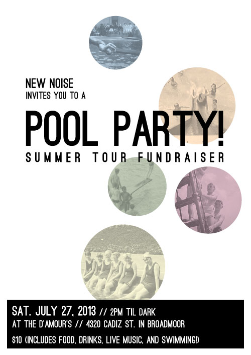 NEW NOISE invite you to a POOL PARTY!